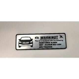 スバル(スバル)の新型 インプレッサ 盗難防止 防犯 セキュリティ エンブレム 小 ステッカー(車外アクセサリ)