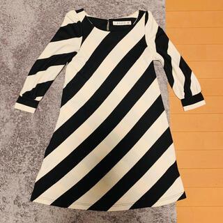 ドットアンドストライプスチャイルドウーマン(Dot&Stripes CHILDWOMAN)の斜めボーダーワンピース(ひざ丈ワンピース)