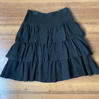 アニエスベー(agnes b.)の美品!!アニエスベー ティアード スカート♡ブラック(ひざ丈スカート)