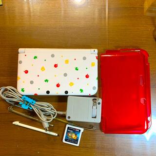 ニンテンドー3DS(ニンテンドー3DS)の3DS LL どうぶつの森ボディーカバー ソフトケース モンハン4G(携帯用ゲーム機本体)