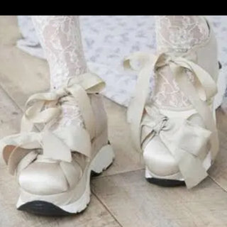 メリージェニー(merry jenny)のメリージェニー 靴 リボンスニーカー(スニーカー)
