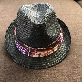 ジーユー(GU)の【GU】中折れハット 帽子 ストローハット(麦わら帽子/ストローハット)