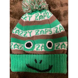 ベベ(BeBe)のカエルのベビーニット帽 52〜56センチ(帽子)