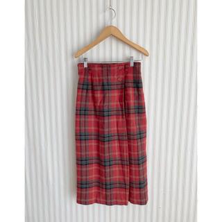 ロキエ(Lochie)の古着  vintage   ヴィンテージ レトロ チェック デザインスカート(ロングスカート)