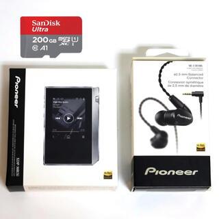 Pioneer - 美品 DAP Pioneer XDP-30R+ハイレゾ イヤホン + SDカード