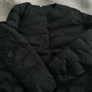 ムジルシリョウヒン(MUJI (無印良品))の無印良品 ノーカラーコート ネイビー Mサイズ(ノーカラージャケット)