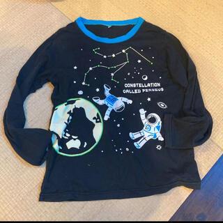 ニッセン(ニッセン)のニッセン 蓄光 長袖Tシャツ 150㎝ ブラック 宇宙(Tシャツ/カットソー)