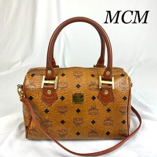 エムシーエム(MCM)のMCM レザー ロゴ 2WAY バッグ(ショルダーバッグ)