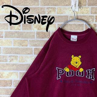 ディズニー(Disney)のディズニー 刺繍ロゴ ゆるだぼ 90s スウェット トレーナー ビックシルエット(スウェット)