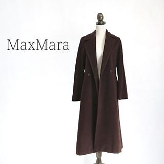 マックスマーラ(Max Mara)のsana 様専用 マックスマーラ ロングコート ダークブラウン レディース(チェスターコート)