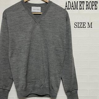 アダムエロぺ(Adam et Rope')のADAM ET ROPE' アダムエロペ Vネック ニット グレー L(ニット/セーター)