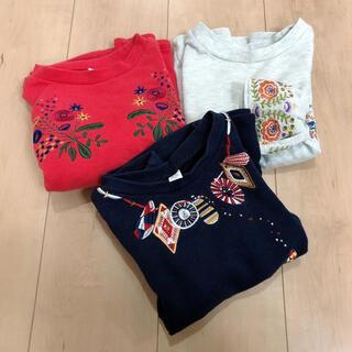 グラニフ(Design Tshirts Store graniph)のデザインティーシャツストア スウェットワンピース 子供服 90 3点セット(ワンピース)