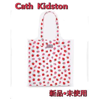 キャスキッドソン(Cath Kidston)のキャスキッドソン  トートバッグ 鞄 いちご コットン エコバッグ ストロベリー(トートバッグ)