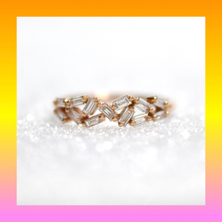 テーパー✨ダイヤモンド  K18PG ピンクゴールド リング 指輪  (リング(指輪))