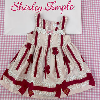 Shirley Temple - シャーリーテンプル  リボン柄 JSK ワンピース 80