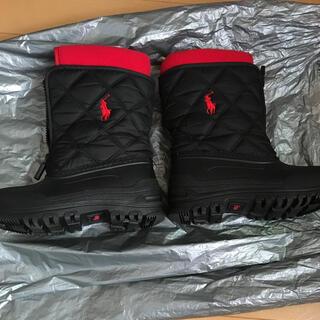 ポロラルフローレン(POLO RALPH LAUREN)のPOLO スノーブーツ 17センチ 黒(ブーツ)