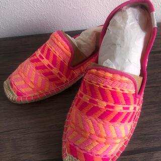 ローリーズファーム(LOWRYS FARM)の新品★ソルドスの可愛いぺたんこシューズ靴(スリッポン/モカシン)