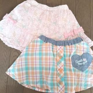 ベベ(BeBe)のkissdrop  スカート2着90cm(スカート)