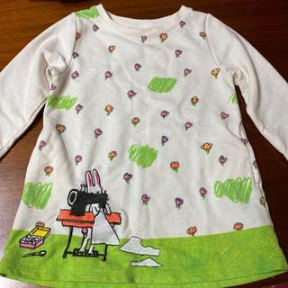 グラニフ(Design Tshirts Store graniph)のデザインティシャツ ワンピース 90(ワンピース)