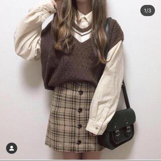 GU - GU チェック柄スカート 新品未使用