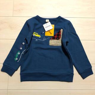 キムラタン(キムラタン)のLa Chiave ラ キエーベ 新品タグ付き 車刺繍トレーナー 110cm(Tシャツ/カットソー)