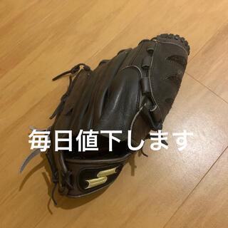 エスエスケイ(SSK)のSSK 軟式用 ピッチャー用 グローブ プロシリーズ 茶色 投手用 野球(グローブ)