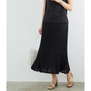 ロペ(ROPE)のロペ プリーツ風ニットスカート(ロングスカート)