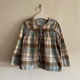 プチバトー(PETIT BATEAU)のチェックシャツ 138㎝(ブラウス)