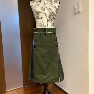 サカイ(sacai)のサカイ 巻きスカート フィッシュテール(ひざ丈スカート)