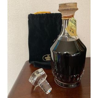 バカラ(Baccarat)の古酒ジャズヘネシー X.Oバカラクリスタルボトル700ml 替え栓付き 布袋付き(ブランデー)