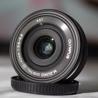 OLYMPUS - 美品!【OLYMPUS】 M.ZUIKO 14-42mm EZ BLK