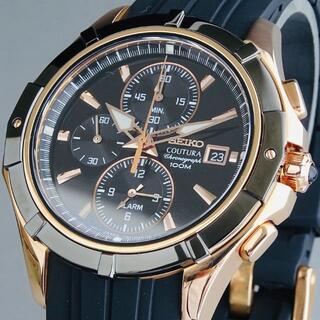 セイコー(SEIKO)の◆定価49,800円◆ セイコー 新品 メンズ 腕時計 コーチュラ クロノグラフ(ラバーベルト)