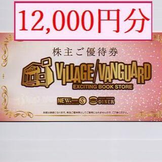 【12000円分】 ヴィレッジヴァンガード株主優待券(1000円券x12枚)(ショッピング)