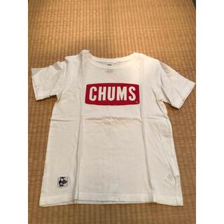 チャムス(CHUMS)のチャムス★ロゴTシャツ白キッズXL130-145美品(Tシャツ/カットソー)