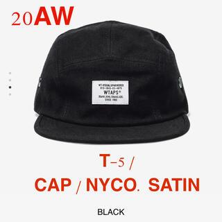 ダブルタップス(W)taps)のT-5 / CAP / NYCO. SATIN 黒(キャップ)