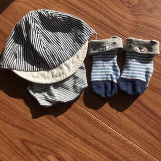 ベベ(BeBe)のベビー 帽子、ソックス セット(帽子)