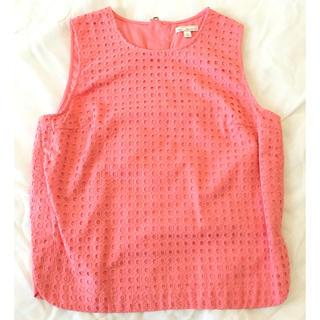 ギャップ(GAP)のコーラルピンクのノースリーブブラウス(シャツ/ブラウス(半袖/袖なし))