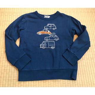 ニットプランナー(KP)のKPニットプランナー★くるま刺繍トレーナー130ブルー(Tシャツ/カットソー)