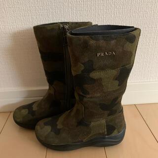 プラダ(PRADA)のPRADA プラダ キッズブーツ 美品(ブーツ)