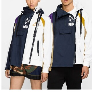 サカイ(sacai)のsacai NIKE ダブルジップジャケット ウィメンズLサイズ(ブルゾン)