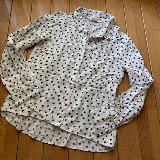 エイチアンドエム(H&M)のハート柄 シャツ 130(ブラウス)