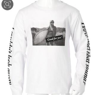 アナップキッズ(ANAP Kids)のAnapkids新品フォトプリントロンTホワイト(Tシャツ/カットソー)