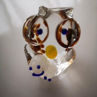 フクロウ ガラスの置物(置物)