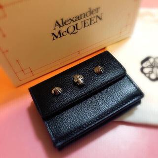アレキサンダーマックイーン(Alexander McQueen)の新品 AlexanderMcQUEEN 折り財布 スカルミニウォレット 黒赤(財布)