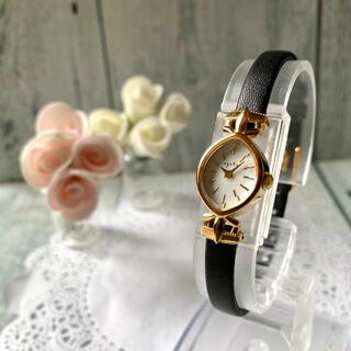 アガット(agete)の【電池交換済み】agete アガット 腕時計 シェル 文字盤 ゴールド(腕時計)