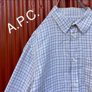 アーペーセー(A.P.C)の☆チュニジア製☆アーペーセー☆1ポケット☆チェック柄☆コットンシャツ☆長袖シャツ(シャツ)