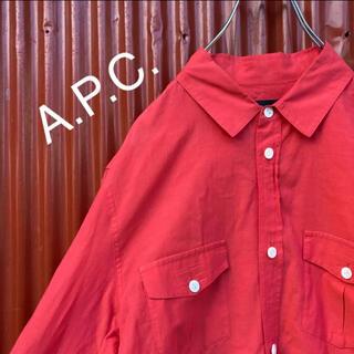 アーペーセー(A.P.C)の☆オススメ☆アーペーセー☆2ポケット☆コットンシャツ☆長袖シャツ☆薄手(シャツ)