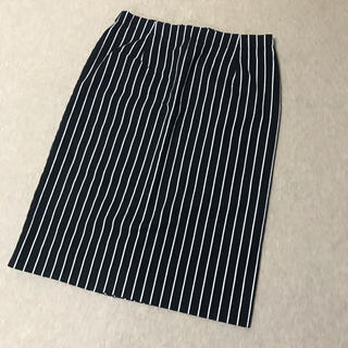 ミッシェルクラン(MICHEL KLEIN)のMK ストライプタイトスカート(ひざ丈スカート)