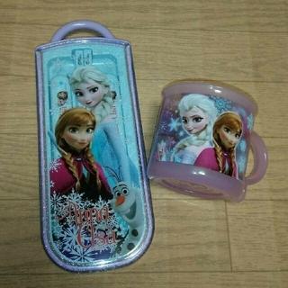 アナトユキノジョオウ(アナと雪の女王)のアナと雪の女王 スプーンフォーク箸セット コップ(弁当用品)