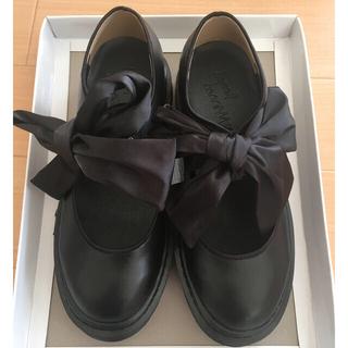 メリージェニー(merry jenny)のmerry jennyサテンリボンフラットシューズ(ローファー/革靴)